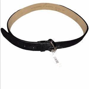 Banana Republic Faux Leather Alligator belt black